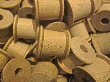43mm x 37mm Large Fat Wood Spools  12mm hole
